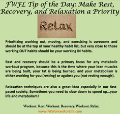 http://fitwomenforlife.com Relax and Recover!
