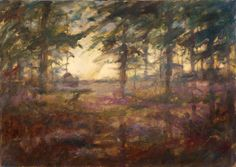 """diffuse evening light"", artist Eduard Moes"