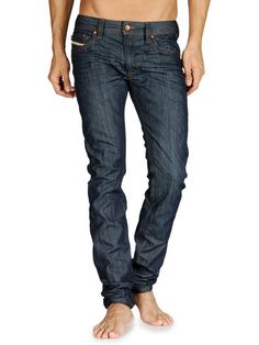 Dark wash skinny from Diesel. Good for tucking in boots. Diesel Store, Mans World, Skinny, My Style, Jeans, Boots, Shopping, Clothes, Dark