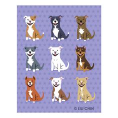 Lili Chin: Pit Bulls Print