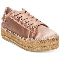 Espadrille styling steps up your casual look in Steven by Steve Madden's Pace sneakers with a classic laced design and wrapped platform.