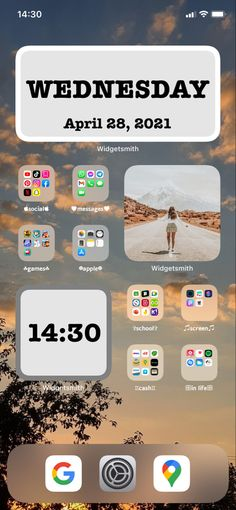 Homescreen, Wednesday, Messages, Text Posts, Text Conversations