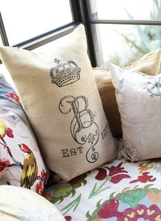 Loving the mix of textures used in these pillows. Photo: Colleen Duffley