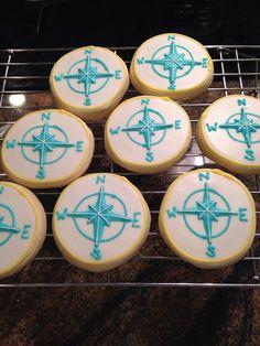 Compass sugar cookies
