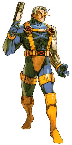 View an image titled 'Cable Art' in our Marvel vs. Capcom 2 art gallery featuring official character designs, concept art, and promo pictures. Comic Book Characters, Marvel Characters, Comic Character, Comic Books Art, Character Design, Marvel Dc Comics, Bd Comics, Marvel Heroes, Jean Grey