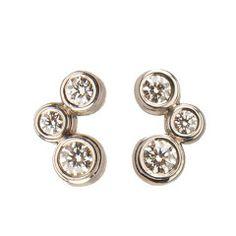 Tiffany Bubbles Diamond Platinum Earrings