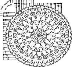 circle-in-square- crochet pattern chart