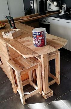 pallet kitchen seating