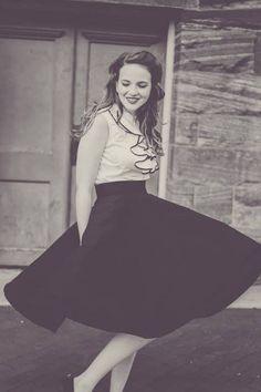 Essential Elegance Midi Skirt in Black   Mod Retro Vintage Skirts   ModCloth.com