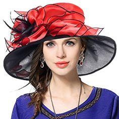 VECRY Women Floral Wedding Dress Tea Party Derby Racing Church Hat Review.  Vestidos De La IglesiaSombreros ... a25fe2f39ab