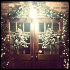 Winter star wreath for double front door   Wreath Ideas   Pinterest