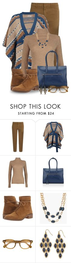 """Belted Cape Cardigan"" by snickersmother ❤ liked on Polyvore featuring Nili Lotan, Boohoo, RGB, Trussardi, Steve Madden, Talbots and Moscot"