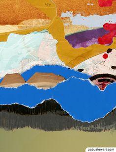 "Zabu Stewart - Collage (2013) titled - ""The Valleys of China"" . :: Prints @ http://society6.com/ZabuStewart/The-valleys-of-China_Framed-Print"