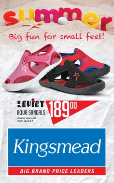 Kingsmead Shoes October catalogue is here. Say hello to summer! Childrens Shoes, Say Hello, Infant, Aqua, October, Sandals, Sneakers, Summer, Kids