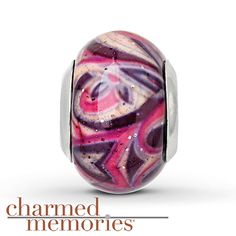 Charmed Memories® Murano Glass Charm Sterling Silver