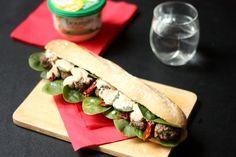 Bel Fevrier Sandwich3 1024x682 Sandwich chaud aux boulettes de bœuf, légumes et Boursin Cuisine®