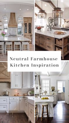 Nice Farmhouse Kitchen Inspiration, Modern Farmhouse Kitchens, Farmhouse Kitchen Decor, Kitchen Redo, Home Decor Kitchen, Home Kitchens, Modern Kitchen White Cabinets, Marble Kitchen Ideas, Farmhouse Style Homes