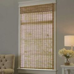 Home Decorators Collection Driftwood Flatweave Bamboo Roman Shade 48 In W X 72 In L Actual