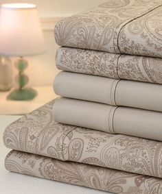 Look at this #zulilyfind! Taupe Paisley Six-Piece 800-Thread Count Sheet Set by Trade Linker International lnc. #zulilyfinds