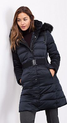 Very nice looking esprit long down coat - similar in style to the M&S down coat