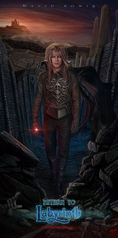 Jareth Is Back-Return To Labyrinth-FanArt by VladislavPANtic All I can say is, if so, the actor sure better be a damn good David Bowie look-alike and Sarah and him get together happily ever after Return To Labyrinth, David Bowie Labyrinth, Labyrinth 1986, Labyrinth Movie, Labrynth, Goblin King, Kino Film, The Dark Crystal, Fantasy Movies
