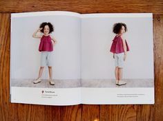Too cute bow smock top for girls. A Japanese sewing pattern from Happy Homemade Sew Chic Kids. Now available in English!