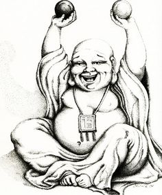 Hotei the Laughing Buddha 5x7 Fine Art Print by EricaRichards, $12.00