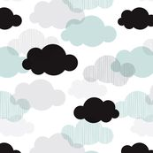 Clouds Fabric - Dreamy Sky And Pastel Clouds Scandinavian Sky Fabric By Little Smile Makers - Cotton Fabric by the Metre by Spoonflower Double Gauze Fabric, Cotton Twill Fabric, Fleece Fabric, Cotton Canvas, Baby Fabric, Pastel Clouds, Cloud Fabric, Nursing Pillow Cover, Rainbow Cloud