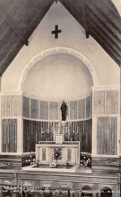 Old Postcard - Our Lady of Willesden. Nicoll Road/Acton Lane  Harlesden NW10