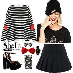 Shein 5. by amra-f on Polyvore featuring moda, Larsson & Jennings, adidas, Marc by Marc Jacobs, OneDirection, 1d, Sweater, 5sos and shein