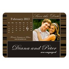 Custom & Personalized Rectangular Save the Date by idomagnets, $1.00
