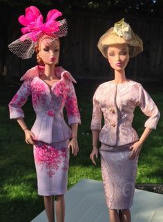 Two Victoire dolls modelling Boutiquewindow suits! Both listed on Etsy: https://www.etsy.com/ca/shop/Boutiquewindow