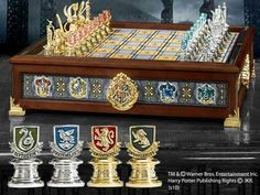 HOGWARTS HOUSES QUIDDITCH CHESS SET Wizarding World Harry Potter Noble Universal $394.95