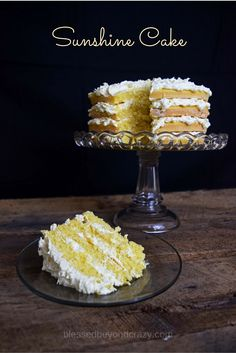 Sunshine Cake. An elegant cake that literally takes minutes to get in the oven. Made from a box mix, this is the simplest cake you will ever make! GF option. #blessedbeyondcrazy #spon