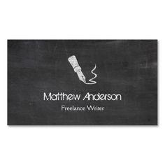 310 best freelancer business cards images on pinterest business freelance writer blackboard chalkboard look business card colourmoves