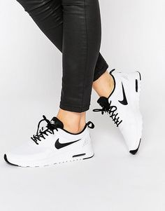 Nike White & Black Air Max Thea Trainers I need these in my life! Next purchase!!! <3