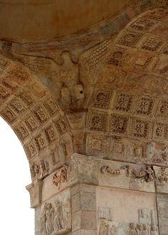 Khoms, Libya - Arch of Septimus Severus, Leptis Magna. / qw