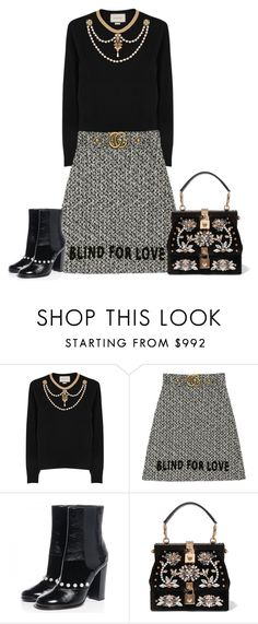 """""""Untitled #5797"""" by lovetodrinktea ❤ liked on Polyvore featuring Gucci, Chanel and Dolce&Gabbana"""