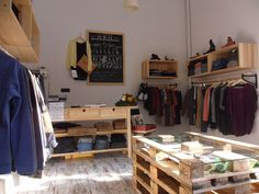 DIY tables!  RRRIOTshop - concept store & independent clothing label by Stefania Capellupo, via Behance
