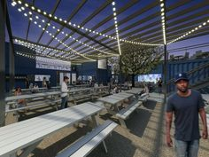 Detroit ShipYard will bring five small restaurants and a beer garden to Midtown.