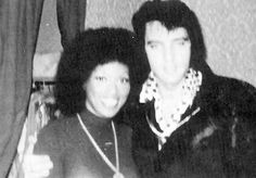 February 23, 1973 Elvis Presley and Myrna Smith of the Sweet Inspirations.