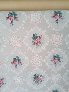 SALE Wallpaper floral wallpaper botanical hibiscus flower wallpaper roll wallpaper vintage wallpaper remnants