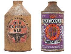 vintage, beer, can