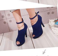 SP-HM12042302-1 zapatos de tacon estilo de elegante color azul a las mujeres ultima moda 2012