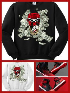 Cc exclusive sweater sweatshirt to match nike air jordan 1 banned or any  breds 291967179