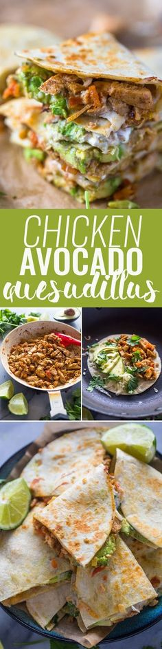 20 Easy Avocado Recipes That Are Almost Too Good to Be Healthy Holen Sie sich das Rezept Chicken Avocado Quesadillas am besten zu essen! Healthy Snacks, Healthy Eating, Healthy Recipes, Healthy Drinks, Guacamole, Mexican Food Recipes, Dinner Recipes, Avocado Dessert, Avocado Recipes