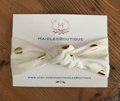 Gold Headband, Gold Polka Dot Headband, Baby Polka Dot Headband, Baby turban, Baby Headband, Baby Head Wrap by HaidlesBoutique on Etsy https://www.etsy.com/listing/453241146/gold-headband-gold-polka-dot-headband