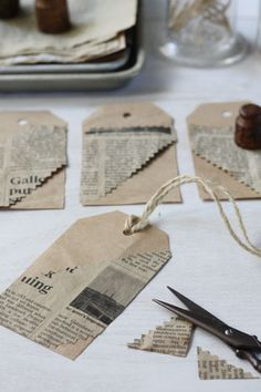 making paper tag with coffee