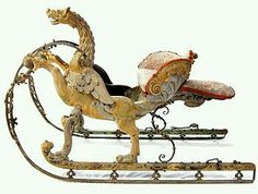 Chimere sleigh by Jean Berain. Pobably made for the Dauphin by Jean Berain. Sculpture Metal, Prams And Pushchairs, Dashing Through The Snow, Christmas Past, Christmas Scenes, Dragon Jewelry, Horse Drawn, Objet D'art, Victorian Gothic
