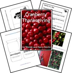 Cranberry Thanksgiving Lapbook